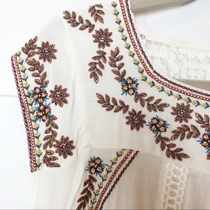 Adorable Boho Knox Rose gauzy festival shirt S/M